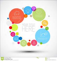 vector diagram infographic template with various descriptive    vector diagram infographic template   various descriptive circles
