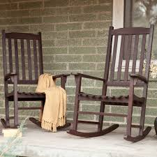 front porch rocking chairs coral coast indoor outdoor mission slat rocking chairs dark brown set