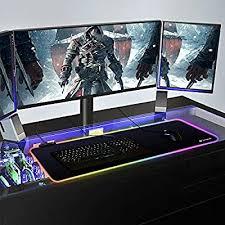 <b>Simpeak</b> (800x300x4mm) Large Extended Led <b>Gaming</b> Mouse pad ...