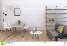 3d rendering nice vintage brick living room with built in furniture built furniture living room
