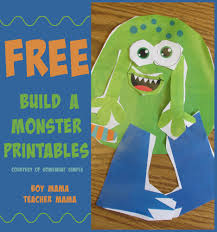 templates to build a monster archives boy mama teacher mama printable build a monster activity i came across this the other day check out this printable build a monster activity from somewhat