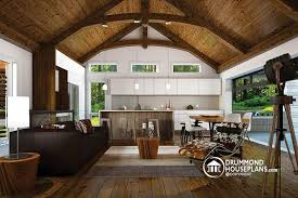 outdoor kitchen bungalow  living room scandinavian style bungalow cathedral ceiling w exposed w