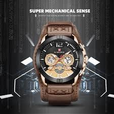 NAVIFORCE <b>Men Watch</b> Fashion <b>Male Leather</b> Quartz <b>Watches</b> ...