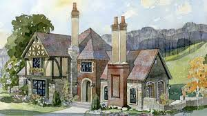 English Cottage House Plans   Southern Living House PlansSL   middot  Fireside Cottage