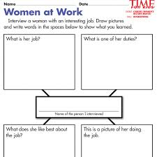 women s history month printables time for kids women at work