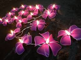 outdoor lighting purple flower string lights wedding party decorating ideas amazing garden lighting flower