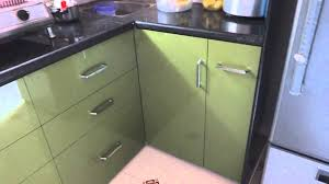 modular kitchen colors: modular kitchen in quotolive greenquotcolour in polymer range in baroda and anand  youtube