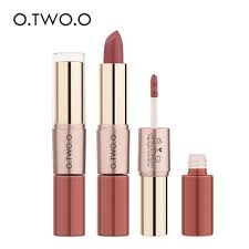 O.TWO.O <b>12 Colors</b> Easy to Wear <b>Matte Lipstick</b> (2 In 1) | Shopee ...