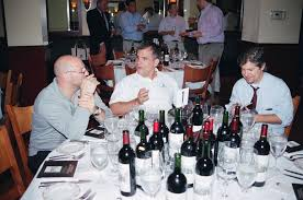 montelena estate cabernet dinner  scott manlin wilfred van gorp and rob klafter at table 1