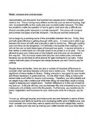 model compare and contrast essay on bicycles versus model compare and contrast essay on bicycles versus motorcycles