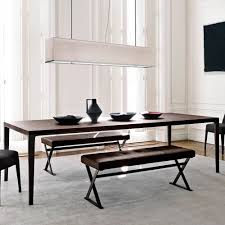contemporary solid wood dining table