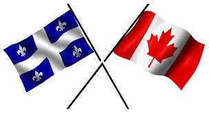 Image result for lá cờ canada và cờ quebec