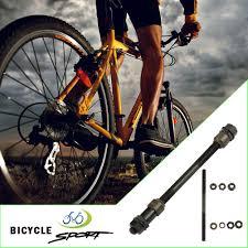 Radsport Road Mountain Bike Front & Rear Axle Hollo <b>1 Pair MTB</b> ...
