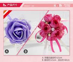 <b>Hand Wrist Flower Pink</b> Accessories Wedding Hands Corsages Girls ...