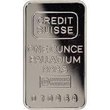 credit suisse palladium bars