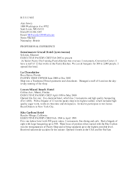 chef resume example sample cv trainee  seangarrette cochef resume example