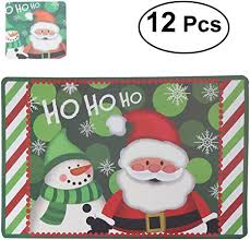 Tinksky <b>Christmas Placemats</b> Cushions Cup Coasters Dining Table ...
