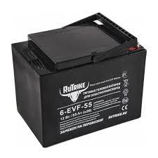 <b>Тяговый гелевый аккумулятор RuTrike</b> 6-EVF-55 (12В) 55 А/ч