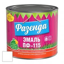 <b>Эмаль Ленинградские краски ПФ-115</b> Фазенда белая 20 кг в ...