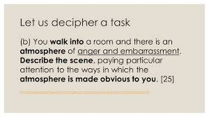descriptive writing year planning learning objectives to let us decipher a task b you walk into a room and there is