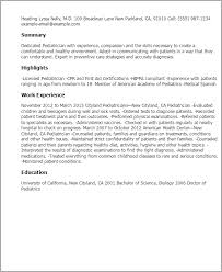 Professional Pediatrician Templates to Showcase Your Talent     My Perfect Resume Resume Templates  Pediatrician