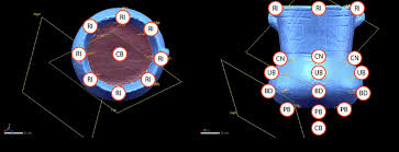 Location of landmarks on Caddo <b>ceramic</b> vessels. Measurements ...
