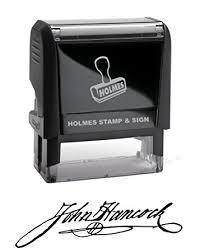 custom signature stamp self inking amazoncom stills office