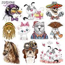 ZOTOONE Stripes Iron on Transfer <b>Patches on</b> Clothing Diy <b>Horse</b> ...