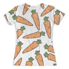 Футболка с полной запечаткой (женская) <b>Морковки</b> #2433765 ...