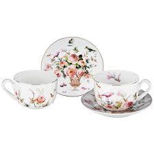<b>Набор чайный LEFARD Котики</b> на 2 персоны, 4 предмета 200мл ...