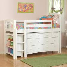 white furniture cool bunk beds: low kids bed kid bedroom low loft bed with storage slumberland colors