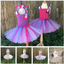 5 Style <b>Flower Girls Unicorn Tutu</b> Dress With Headband Fancy Girl ...