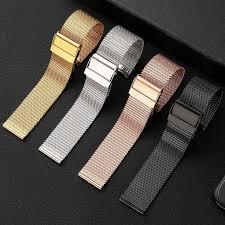 MU SEN <b>Milanese</b> Watchband <b>18mm 20mm 22mm</b> 24mm Universal ...