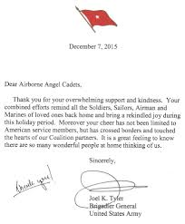 care packages for iers thank you letter from a brigadier thank you letter from the mideast