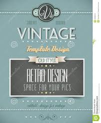 vintage retro page or cover template royalty stock photos vintage retro page or cover template