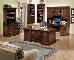 excellent classic home office design features rectangle shape dark attractive with brown wooden desk and black awesome wood office desk classic