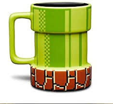 QIANHUA <b>Creative Cartoon</b> Super Mario Openings Mug Pixel Mug ...