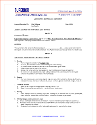 8 landscaping contract template contract template resume formt 8 landscaping contract template contract template