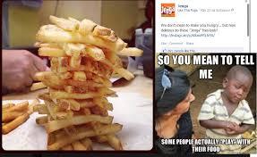 Skeptical African Kid vs Jenga French Fries - Imgur via Relatably.com