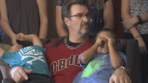 father of takes the mound at chase field com tv perkins has been battling kidney cancer for 4 years source kpho ktvk