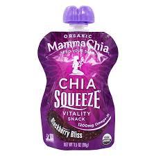Mamma Chia - <b>Organic Chia Squeeze Vitality</b> Snack Blackberry Bliss
