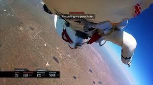 Felix Baumgartner - Headcam footage space Jump!! FULL
