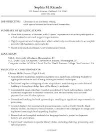 functional resume example  librarian in an academic settingsample resume librarian academic p