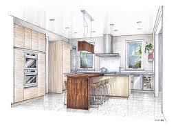 luxury development kitchen rendering hand drawn by mick ricereto luxury development kitchen rendering hand drawn by mick ricereto