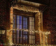simple is sometimes the best when it comes to christmas lightsthe prewar balcony lighting ideas