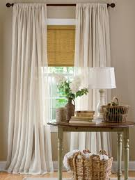 sheer curtains ivory white double