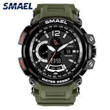 <b>SMAEL Fashion</b> Men <b>Watch</b> LED Dual Display Digital Electronic ...