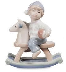<b>Фигурка</b> декоративная Pavone Мальчик на лошадк <b>JP</b>-36/17 ...
