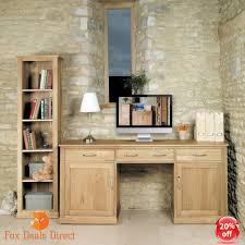 baumhaus large oak hidden office twin pedestal desk solid oak mobel furniture baumhaus mobel solid oak hidden