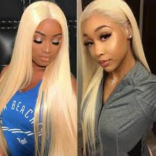 Ali Pearl <b>Full Lace Wigs 613</b> Straight Human Hair with Baby Hair for ...